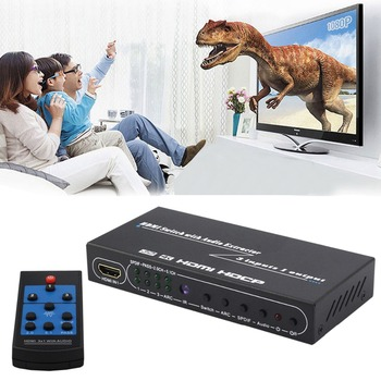 HDMI Slēdzis 3x1 Audio Extractor +SPIDF L/R izejas Komutatoru HDMI1.4 4Kx2K 3D IS LOKA 7.1 CH 3 Video Avota Slēdzi Pārveidotājs PS4 TV, XBox, PC, DVD Atskaņotājs, Pastiprinātājs HDTV